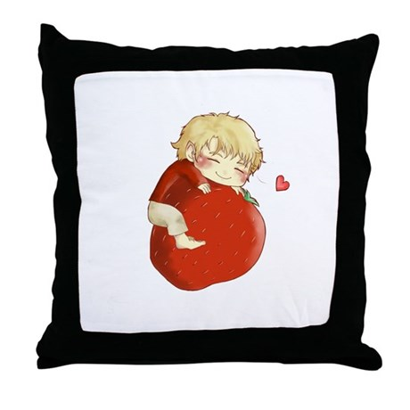 Love for strawberries Throw Pillow