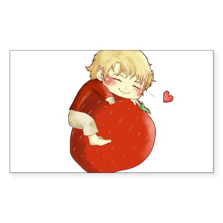 Love for strawberries Sticker