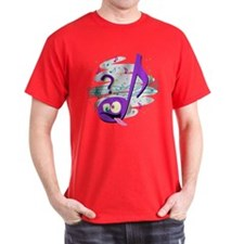 Crazy Music Note T-Shirt