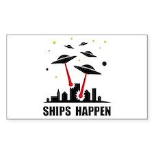 UFO Ships Happen Decal