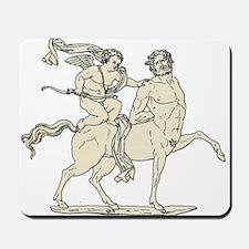 Cupid on Centaur Vintage Line Art Mousepad