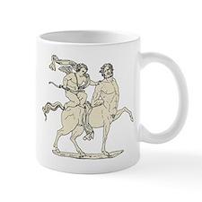 Cupid on Centaur Vintage Line Art Mug
