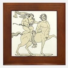 Cupid on Centaur Vintage Line Art Framed Tile