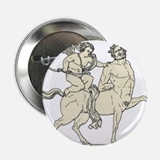 "Cupid on Centaur Vintage Line Art 2.25"" Button"