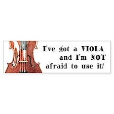I've Got a Viola Bumper Car Sticker