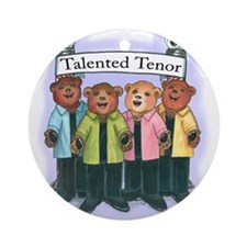 Talented Tenor Ornament (Round)