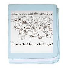 Around the World Challenge baby blanket