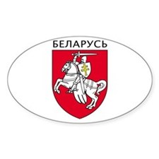 Belarus Oval Decal