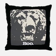 Scary Bear Throw Pillow