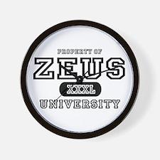 Zeus University Property Wall Clock