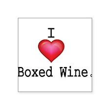 I love Boxed Wine Sticker