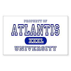 Atlantis University Rectangle Decal