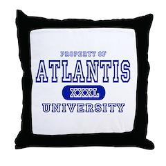 Atlantis University Throw Pillow