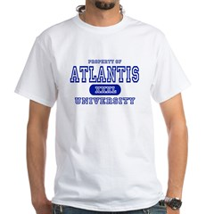 Atlantis University White T-Shirt