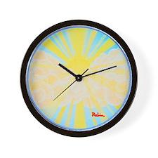 Golden Glory Wall Clock