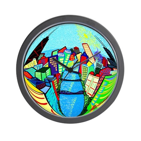 Chicago Riverview Wall Clock