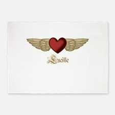 Lucille the Angel 5'x7'Area Rug