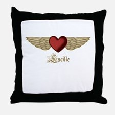 Lucille the Angel Throw Pillow