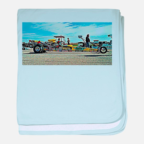 Team Crank Racing dragster baby blanket