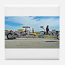 Team Crank Racing dragster Tile Coaster