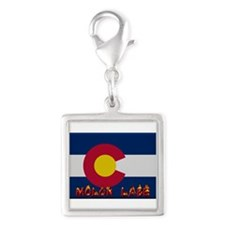 Colorado Molon Labe Silver Square Charm
