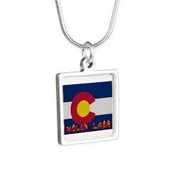 Colorado Molon Labe Silver Square Necklace