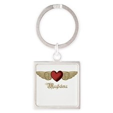 Magdalena the Angel Square Keychain