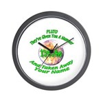 The Pluto Number Wall Clock