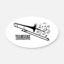 Trombone swirls Oval Car Magnet