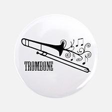 "Trombone swirls 3.5"" Button (100 pack)"