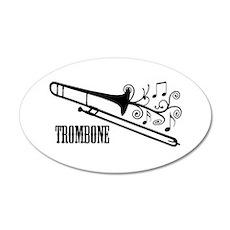 Trombone swirls Wall Decal