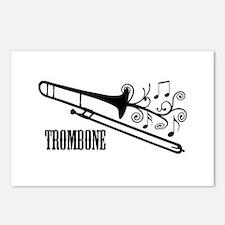 Trombone swirls Postcards (Package of 8)