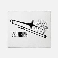 Trombone swirls Throw Blanket
