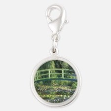 Bridge Monet Silver Round Charm
