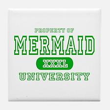 Mermaid University Tile Coaster