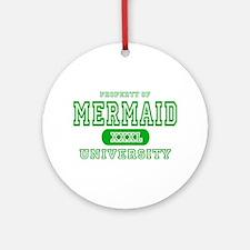Mermaid University Ornament (Round)