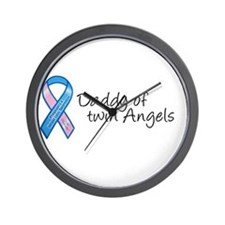 Daddy of Twin Angels Wall Clock