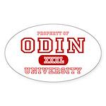 Odin University T-Shirts Oval Sticker