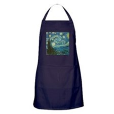 Starry Night van Gogh Apron (dark)