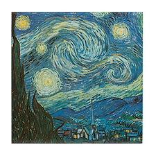 Starry Night van Gogh Tile Coaster