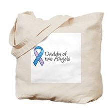 Daddy of Two Angels Tote Bag