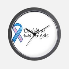 Daddy of Two Angels Wall Clock