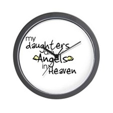 My daughters are Angels Wall Clock