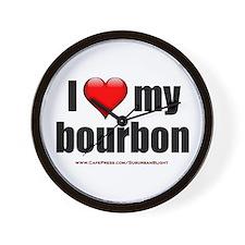 """I Love My Bourbon"" Wall Clock"