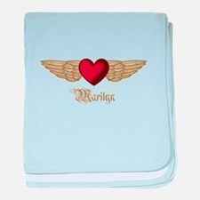 Marilyn the Angel baby blanket