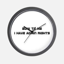 Admin Rights Wall Clock
