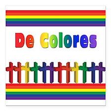 """De Colores Marching Crosses Square Car Magnet 3"""" x"""