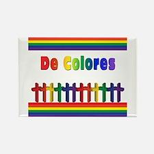 De Colores Marching Crosses Rectangle Magnet
