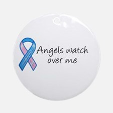 Angels watch over me Ornament (Round)