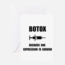 Botox Expression Greeting Card